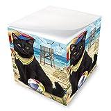 Pet Friendly Beach Black Cat Note Cube NOC51552