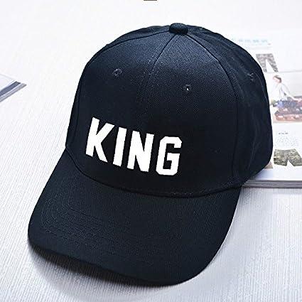WANGSOAR Men and Women Fashion Queen/King basde Ball Cap Hip Hop ...