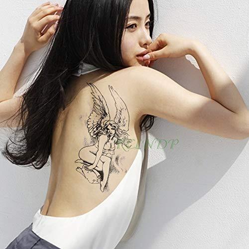 Zhuhuimin 5 unids Impermeable Etiqueta engomada del Tatuaje alas ...