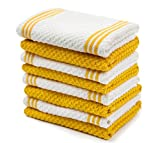 yellow dish cloth - Sticky Toffee Cotton Terry Kitchen Dishcloth, Yellow, 8 Pack, 12 in x 12 in