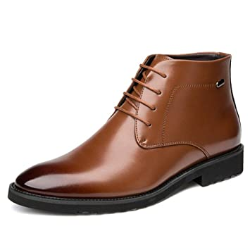 ea9bc7652a59 Amazon.com: Hy Men's Shoes/Leather /Fall/Winter Comfort Boots ...