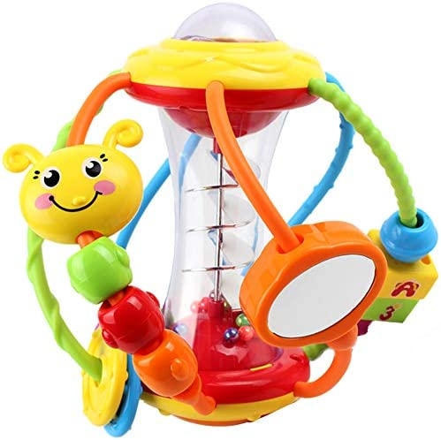 Yiosion Baby Rattle Set Activity Ball Shaker Grab Spin Rattle Early Educational Learning Sensory Toy Gift for 3 6 9 12 Months Newborn Babies Infants Boys Girls