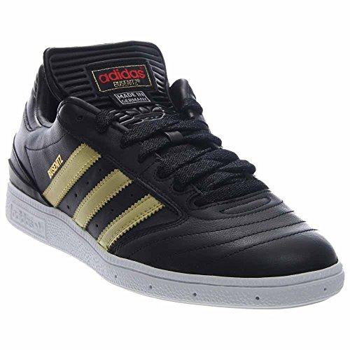Adidas Mens Busenitz Scheinfeld Zwart / Goud-wit Leer Zwart