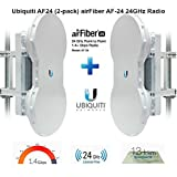 Ubiquiti AF24 Airfiber 24Ghz Wireless PTP 1.4+ Gbps (Complete kit 2 End Points)