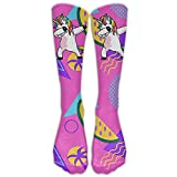 Style Unisex Socks Casual Knee High Stockings Dabbing Unicorn Hip Hop Cotton Socks One Size