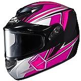 HJC CS-R2SN Seca Full Face Snow Helmet Framed Dual Lens Shield (MC-8 Pink, Small)