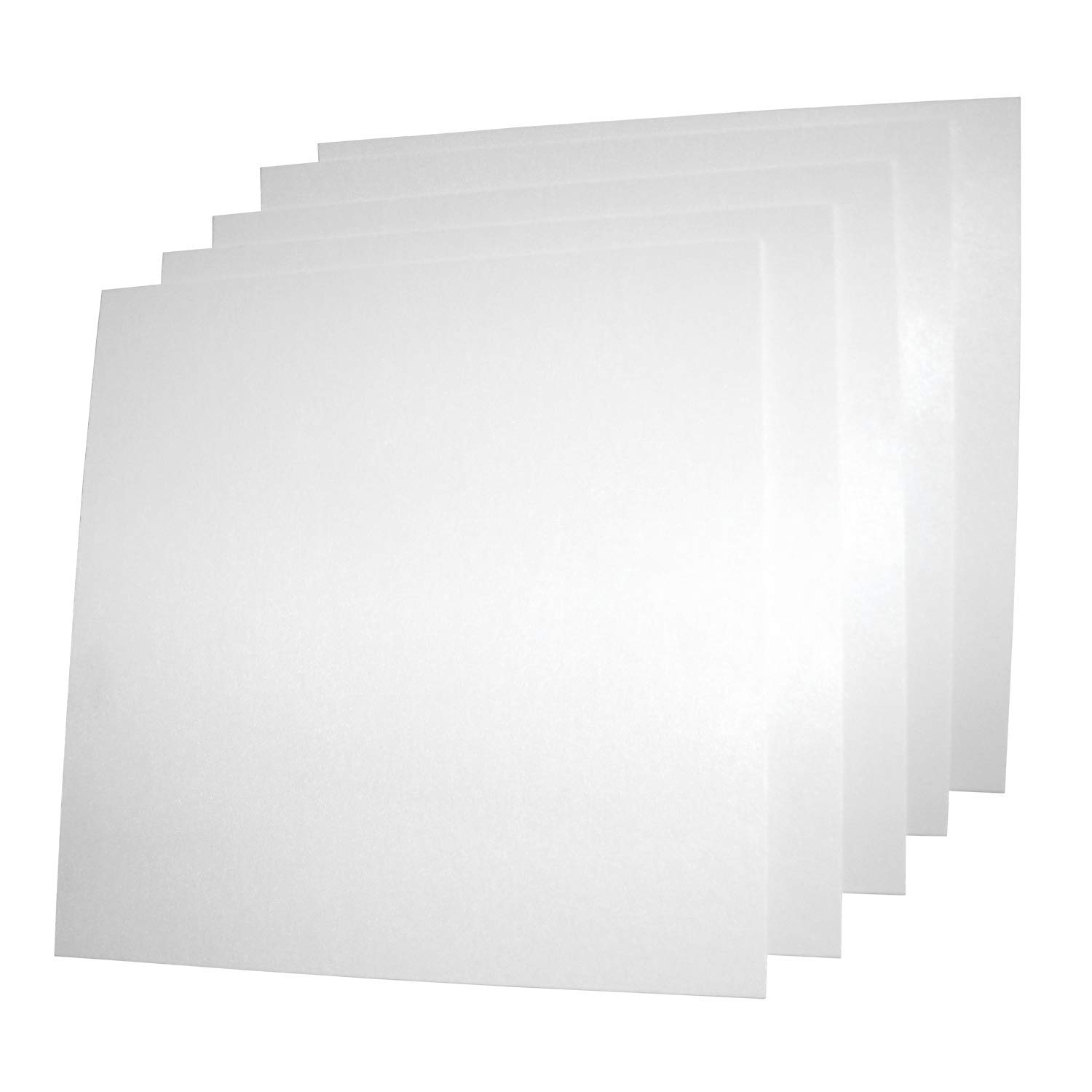 USAMADE's 5 Pack 12x12x.062 ABS Plastic Sheets, Moldable plastic sheets, Great for DIY projects, High Tensile and Impact Strength Plastic, Made in USA