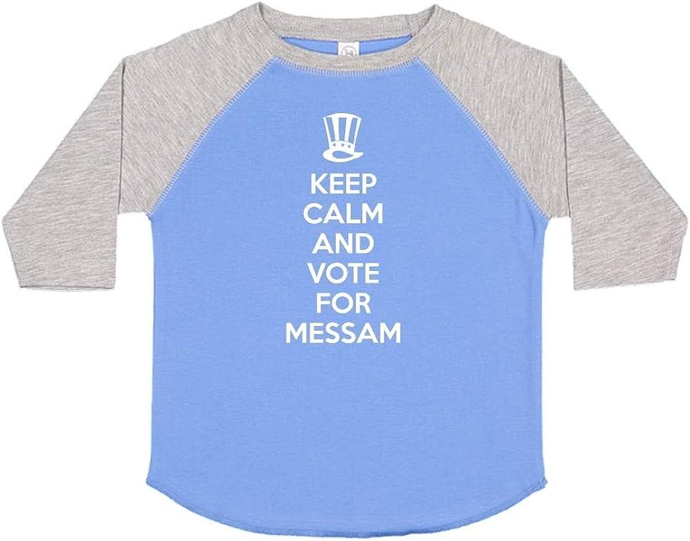 Mashed Clothing Keep Calm /& Vote for Messam Presidential Election 2020 Toddler//Kids Raglan T-Shirt