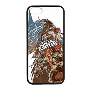 iPhone 5 Case, [Ninja turtles] iPhone 5,5s Case Custom Durable Case Cover for iPhone5 TPU case(Laser Technology)