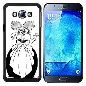 """Be-Star Único Patrón Plástico Duro Fundas Cover Cubre Hard Case Cover Para Samsung Galaxy A8 / SM-A800 ( Danza Hombre Mujer Bola Alcohol divertido"""" )"""