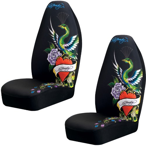 Ed Hardy Peacock Bucket Seat Covers (Pair)