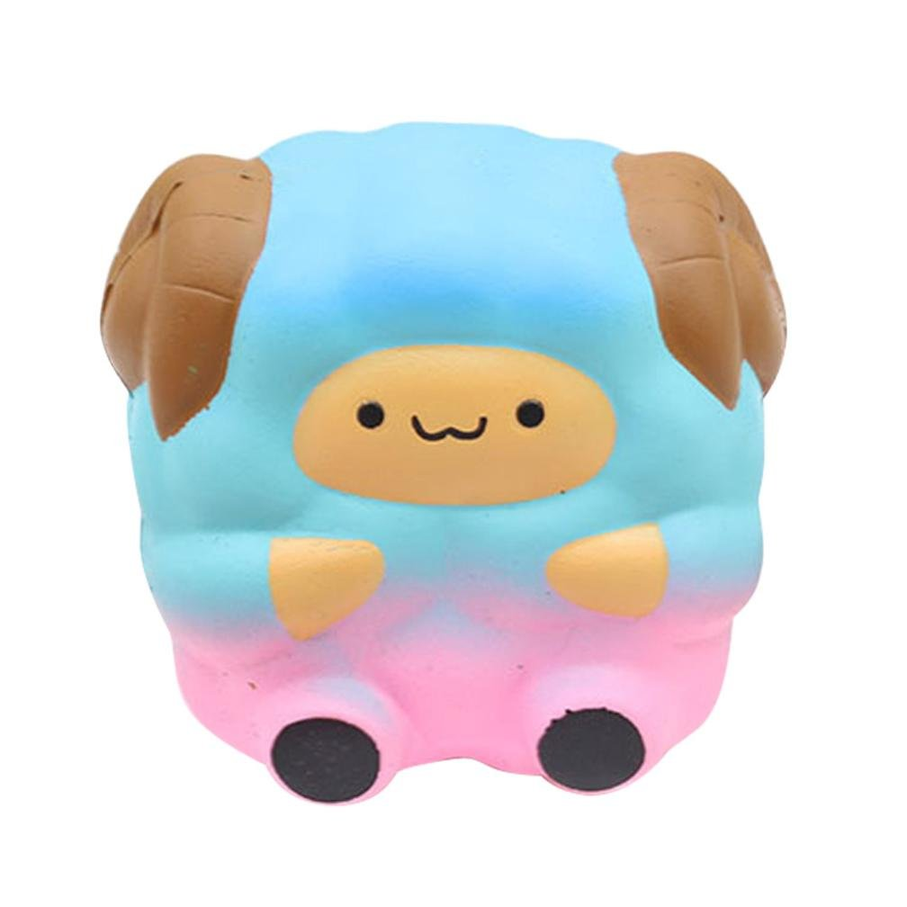 Naladoo 1Pcs Cute Lifelike Galaxy Rainbow Sheep Squeeze Toys for Kids – Squishy Cream Scented Slow Rising- Decompression Cure Decor Gift (Purple) IU32566436436