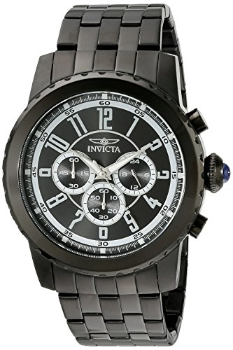 (Invicta Men's 19466 Specialty Black Ion-Plated Stainless Steel Watch)