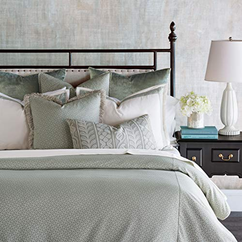 (Eastern Accents Jessup Luxury Pastel Traditional King 8 Piece Bed Set, Mint Green )