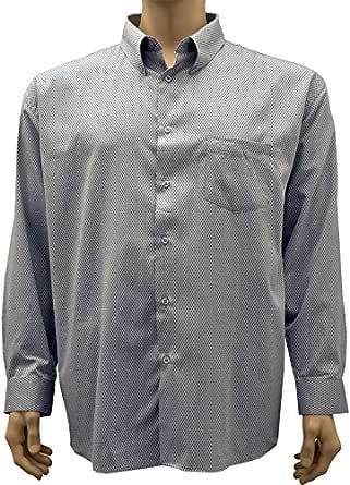 KAM camisa gris, estampado fantasía grande talla hombre – COLOR GRIS negro XXXXXXL: Amazon.es: Ropa y accesorios