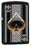 Fusion, Ace of Spades Zippo Outdoor Indoor Windproof Lighter Free Custom Personalized Engraved Message Permanent Lifetime Engraving on Backside (Ace #4)