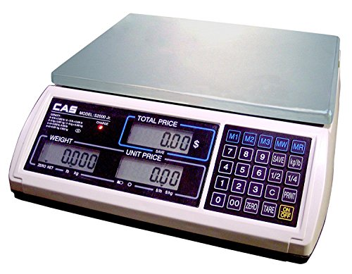 UPC 700358254642, CAS S-2000 Jr Price Computing Scale with LCD Display 15 lbs Without Rechargeable Battery