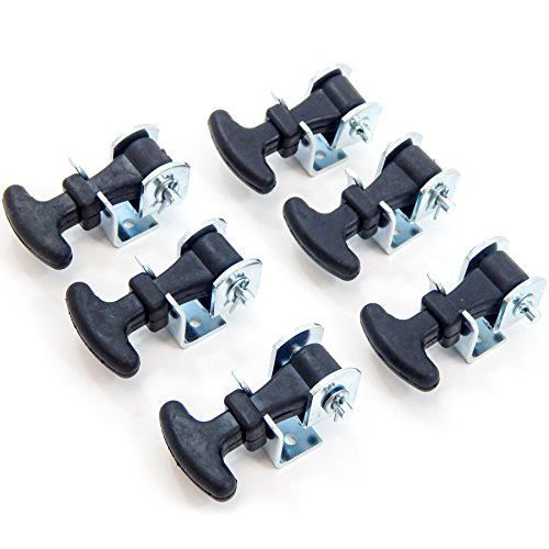 Battery Cover Latch (6 Pack Rubber Hood Latch + Catch Hold-Down Kit 2.5
