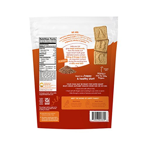 Happy Tot Super Smart Snacks, Organic Toddler Snack, Cinnamon, Sweet Potato + Flaxseed, 4.4 Ounce Bag by Happy Family (Image #1)