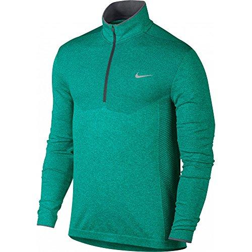 Nike 2016 Dri-Fit Knit Half-Zip Pullover Mens Golf Cover-Up Rio Teal/Dark Grey XL