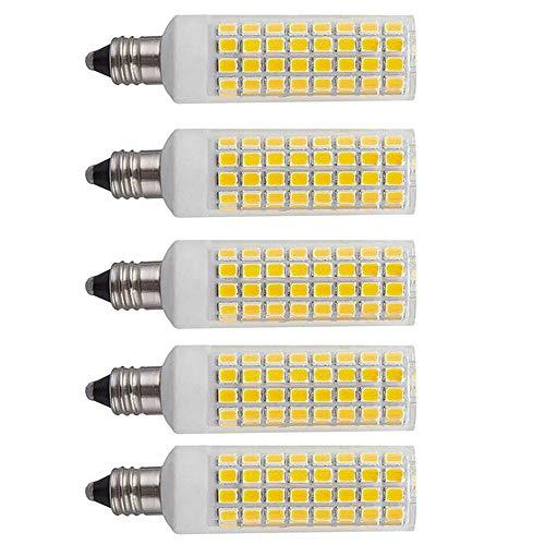 [5-Pack] E11 LED Bulb, 75W 100W Equivalent, Dimmable JD T4 E11 Mini Candelabra Base Bulbs, 110V 120V 1000 lumens Daylight White 6000K