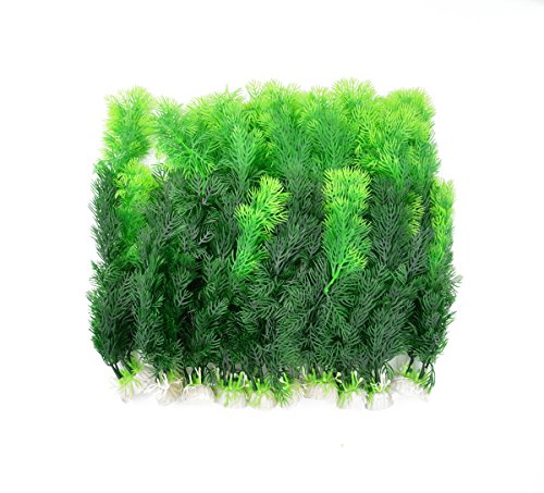 CNZ Aquarium Decor Fish Tank Decoration Ornament Artificial Plastic Plant Green 10pcs Grass ()