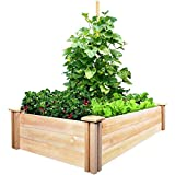 build a planter box Greenes Fence Cedar Raised Garden Kit 2 Ft. X 4 Ft. X 10.5 in.
