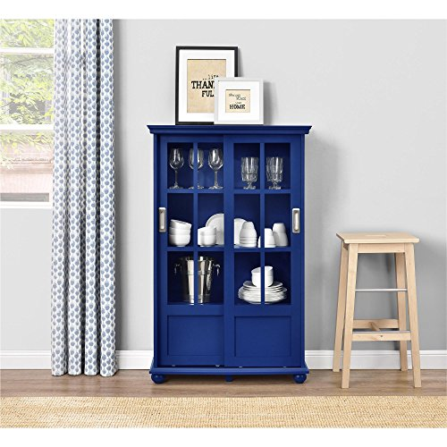 Ameriwood Home Aaron Lane Bookcase with Sliding Glass Doors, Blue by Ameriwood Home (Image #6)