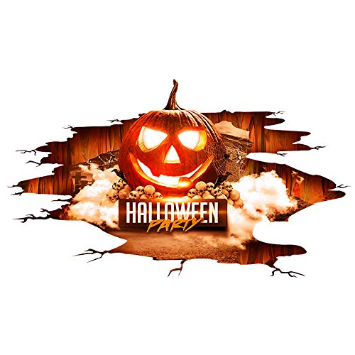 Gbell 17D Happy Halloween Household Room Floor Wall Sticker Mural Decor Decal Removable ()
