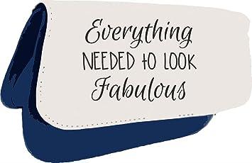 TODO lo necesario para Look Fabulous Make Up declaración embrague bolsa o estuche, color azul talla única: Amazon.es: Oficina y papelería