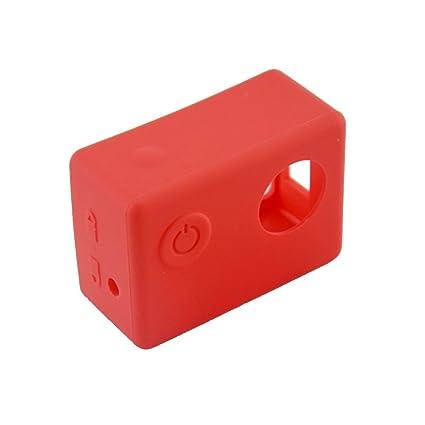 Funda Blanda Cubierta de Silicona Caja Protectora para Cámara Deportiva SJCAM SJ5000 Sjcam SJ4000 Varios Colores - Rojo