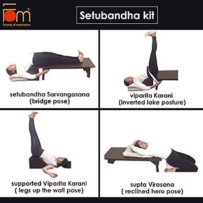 FOM (Friends of Meditation) Kit de Yoga restaurativa (Banco ...