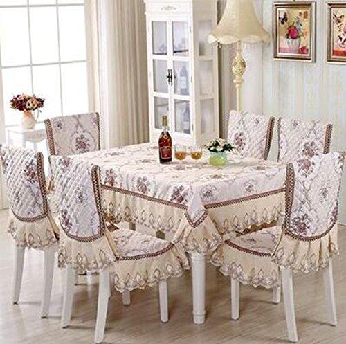 Europ che hochwertigem Stoff, Sitzkissen, Tischkissen, Sitzbezug-Sets,15020cm   Romantic Full House Coffee Farbe