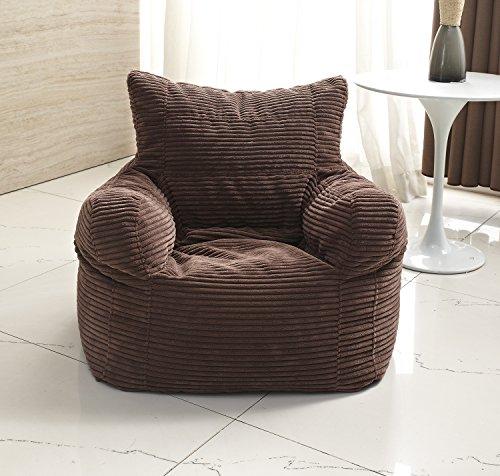 Milton Greens Stars Small Diamond-Weave Arm Chair Bean Bag, Dark ()