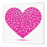 3dRose HT_101577_1 Large Pink Heart Made of Smaller Hearts-Iron on Heat Transfer for Material, 8 by 8-Inch, White