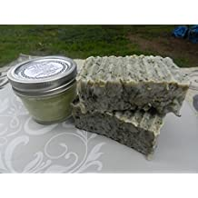Herbal Anti Viral Salve 3.5oz Lemon Balm Herpes Simplex, Chickenpox, Shingles 3.5oz+ and Two Herbal Antiviral Lard and Lye Soaps. Palm Free.