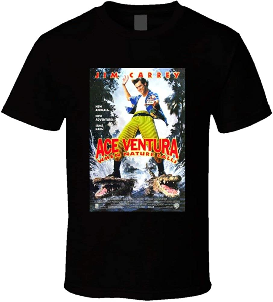 Ace Ventura:When Nature Calls Cool 90's Comedy Vintage Classic Movie Poster Fan T Shirt