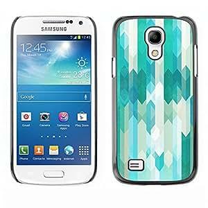 TopCaseStore / la caja del caucho duro de la cubierta de protección de la piel - Lines Abstract Pattern White Bright - Samsung Galaxy S4 Mini i9190 MINI VERSION!