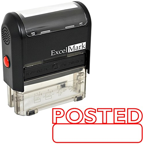 Posted Self Inking Rubber Stamp - Red Ink (ExcelMark A1539) ()