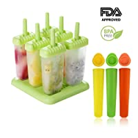 Ice Lolly Moulds | 6 Cell Popsicle Ice Lolly Mould + 3 Silicone Mold |BPA Free & Reusable| Environmentally Friendly | Perfect for Children, Toddlers and Adults(9pack)