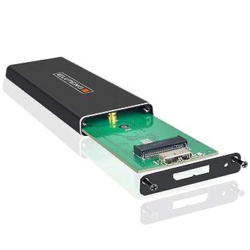 ELUTENG Carcasa M.2 SSD SATA III 2,5 B y Adaptador M Key M.2 NGFF Carcasa 2280 2260 2242 con Convertidora para Mac/Win10/8/7/VISTA/XP/Linux