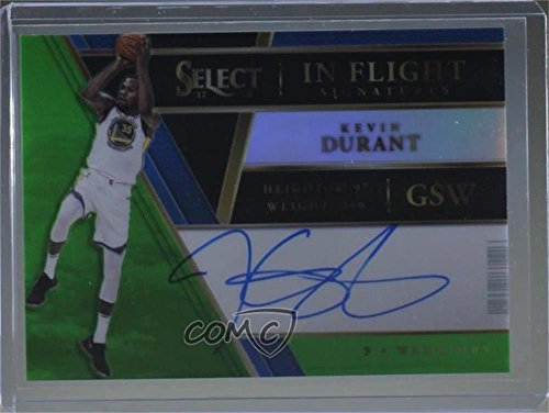 Kevin Durant #/35 (Basketball Card) 2017-18 Panini Select - In Flight Signatures - Neon Green Prizm #IF-KD ()