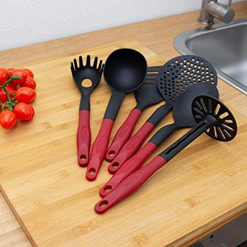 Mousse Cuillère Assistant de Cuisine de Cuisine Ustensiles Silicone laine Cook It Rouge//Noir