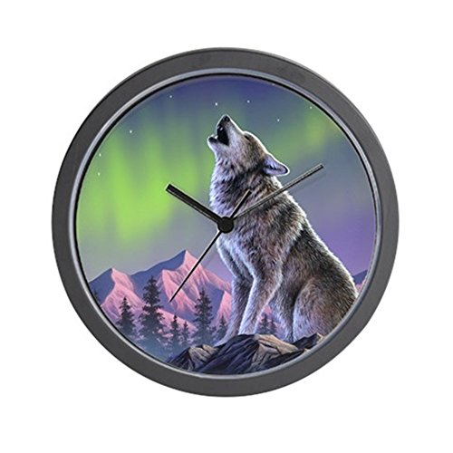 CafePress - Howling Wolf 2 Wall Clock - Unique Decorative 10