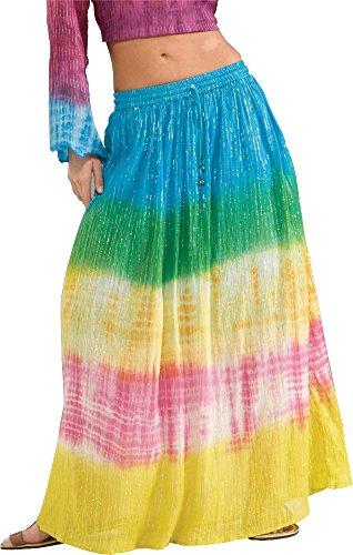 [Forum Novelties Women's Generation Hippie Tye Dye Costume Skirt, Multi, One Size] (Tye Dye Hippie Costumes)