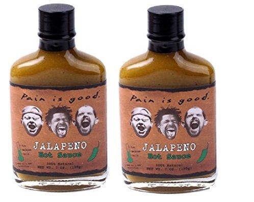 Jalapeno Pepper Sauce - Pain Is Good Jalapeno Pepper Sauce, Medium, 7 Ounce 2 Pack (2)