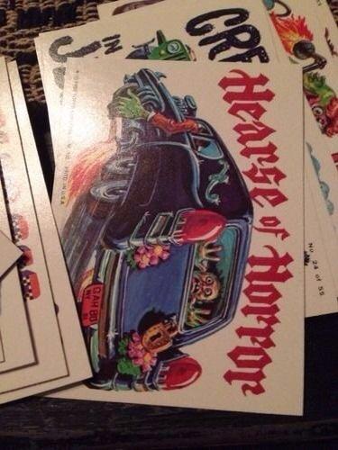 1980 Weird Wheels complete 55 sticker card set. Very Nice (Card Weird Wheels)