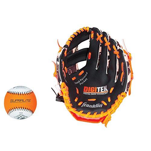 Franklin Sports RTP Teeball Performance Gloves & Ball Combo, 9.5