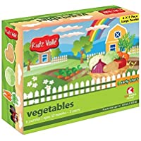 Kidz Valle Vegetable Puzzle 6 x 2 Pieces 12 Months - 3 Years (Puzzles for Kids, Floor Puzzles)