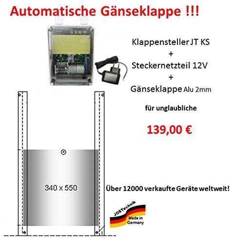 automatische Gänseklappe mit Klappe bzw. Schieber - Direkt vom Hersteller!